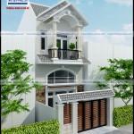 Mẫu nhà phố mặt tiền 5,4m – 1 trệt 1 lững 1 lầu