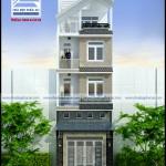 Mẫu thiết kế nhà phố 4 tầng – diện tích 5x17m