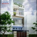Mẫu thiết kế nhà phố đẹp mặt tiền 5m – 3,5 tầng