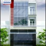Mẫu nhà phố với mặt tiền 8m kết hợp văn phòng