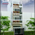 Mẫu nhà phố 3,5 tầng – Mặt tiền 4m