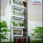 Mẫu nhà phố hiện đại – Mặt tiền 6m – 4 tầng
