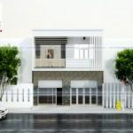 Thiết kế nhà 2 tầng hiện đại – Mặt tiền 7,5m