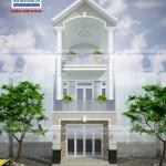 Mẫu thiết kế nhà phố 5x20m – 1 trệt 2 lầu