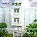 Mẫu thiết kế nhà phố cổ điển đẹp – Mặt tiền 4m