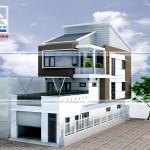 Tư vấn thiết kế kiến trúc nhà phố 2 mặt tiền
