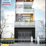 Mẫu thiết kế nhà phố 3 tầng – diện tích 4,8mx14m