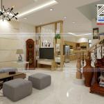 Tư vấn thiết kế kiến trúc nội thất nhà phố 3 tầng ngang 6m