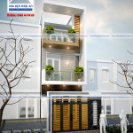 Mẫu thiết kế nhà phố hiện đại 3 tầng – diện tích 4x18m