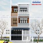 Mẫu thiết kế nhà phố hiện đại 3 tầng – Mặt tiền 6m