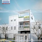 mẫu nhà phố hiện đại 3 tầng – mặt tiền 4,4m