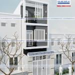 Mẫu nhà phố 1 trệt 2 lầu – diện tích 4x10m