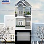 Thiết kế nhà phố 3 tầng – 5x24m