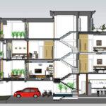 Có nên xây nhà lệch tầng cho nhà phố, nhà ống nhỏ hẹp hay không?